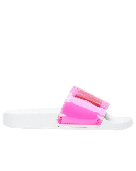 MSGM - Pink Flat Sandals Women - Lyst
