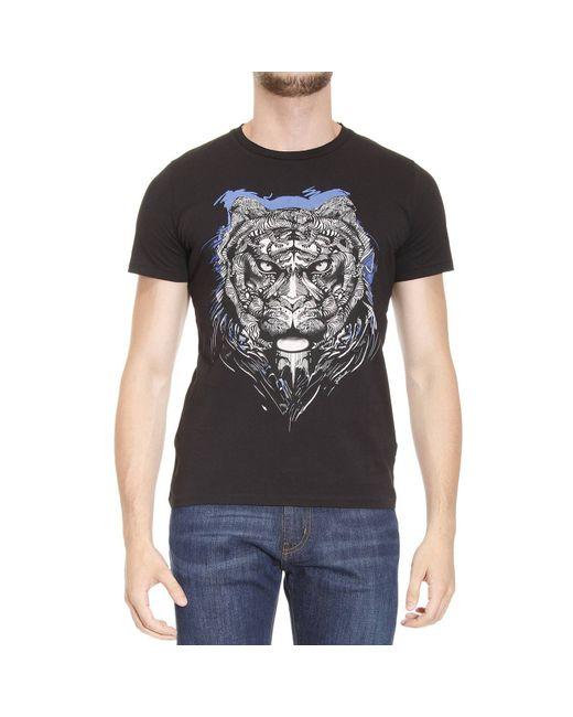 Just Cavalli | Black T-shirt Man for Men | Lyst