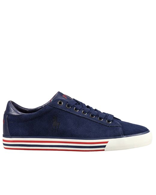 Polo Ralph Lauren | Blue Sneakers Shoes Man for Men | Lyst