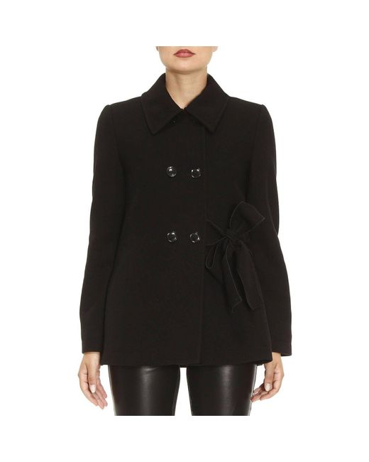 Boutique Moschino | Black Coat Women | Lyst