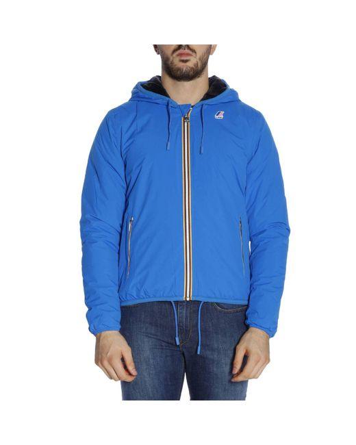K-Way - Blue Jacket Men for Men - Lyst