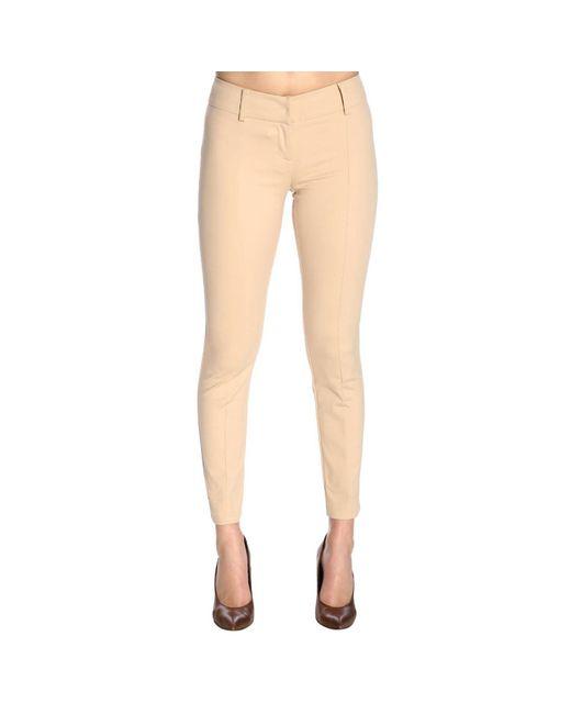 ce7fb20e3e93 Patrizia Pepe - Natural Pants Women - Lyst ...