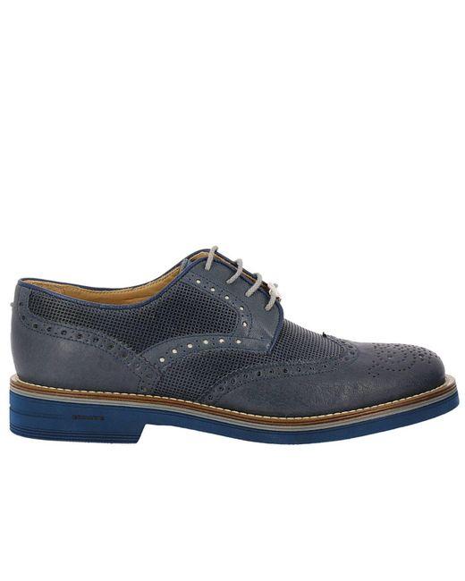 Brimarts - Blue Brogue Shoes Shoes Men for Men - Lyst