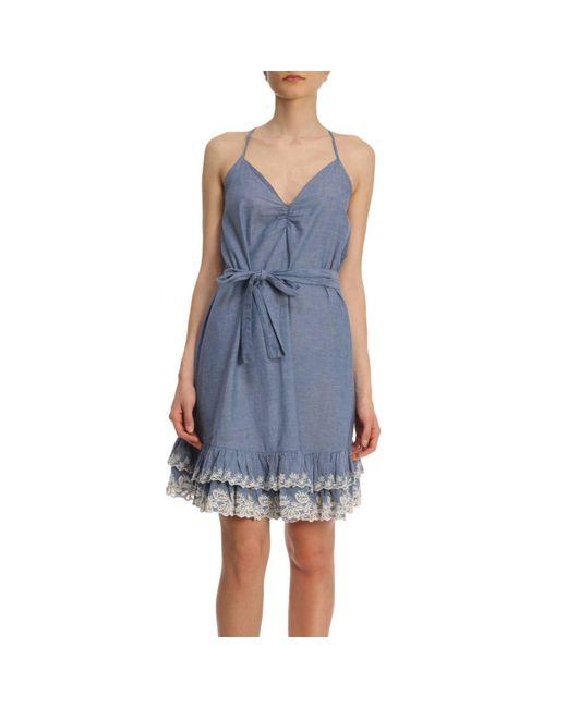 Twin Set - Blue Dress Women - Lyst
