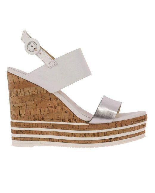 Hogan - White Wedge Shoes Shoes Women - Lyst