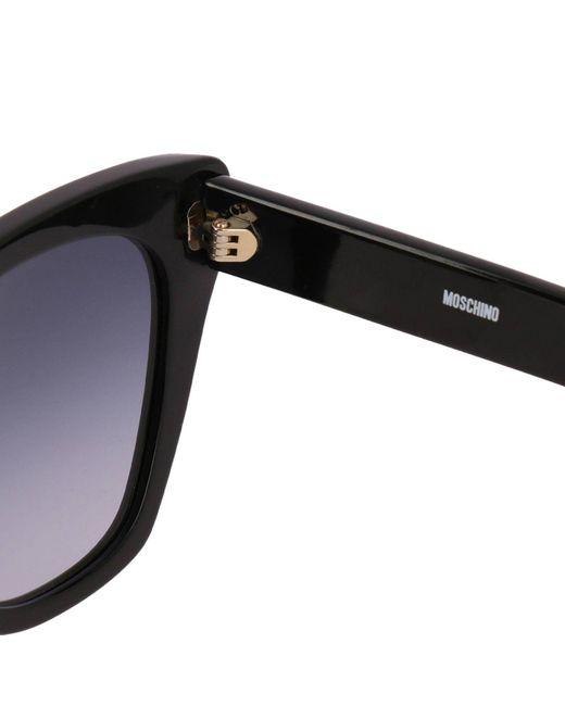 Lyst - Lunettes femme Moschino en coloris Noir 3e63d26a2d82