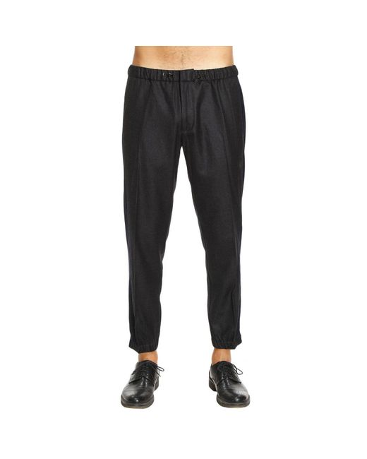 Emporio Armani | Gray Pants Men for Men | Lyst