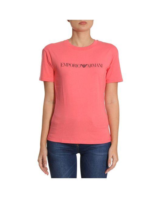 Emporio Armani - Pink T-shirt Women - Lyst