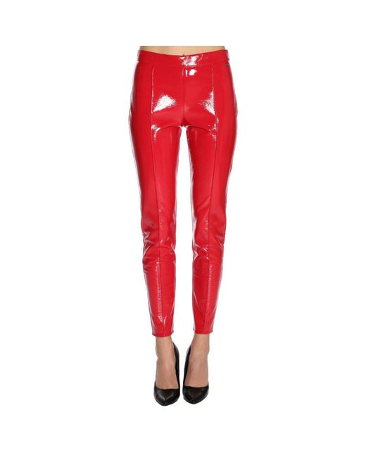 Armani Exchange - Red Pants Women - Lyst