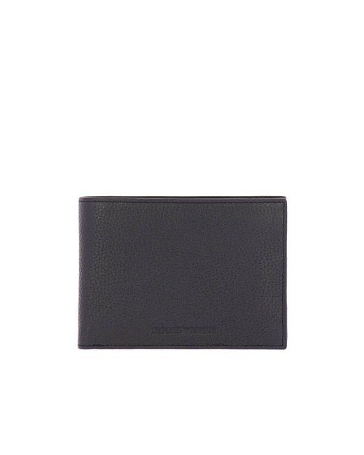 Lyst - Portefeuille homme Emporio Armani pour homme en coloris Noir 97baf6b3290