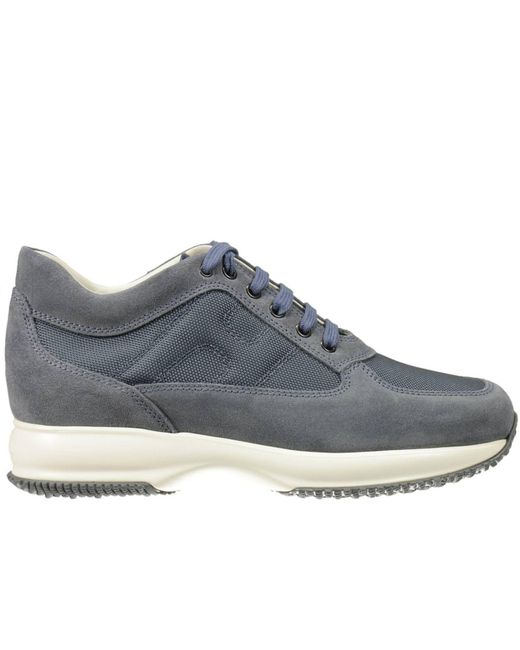 Hogan - Blue Sneakers Interactive Suede Canvas H Bombata for Men - Lyst