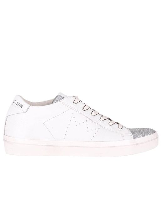 Leather Crown - White Sneakers Women - Lyst