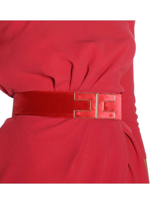 Elisabetta Franchi - Red Belt Women - Lyst