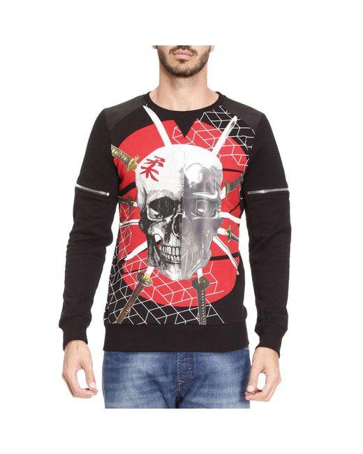 philipp plein sweatshirt sweater men in black for men lyst. Black Bedroom Furniture Sets. Home Design Ideas
