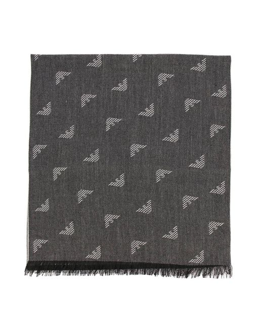 Emporio Armani - Gray Scarf Men for Men - Lyst