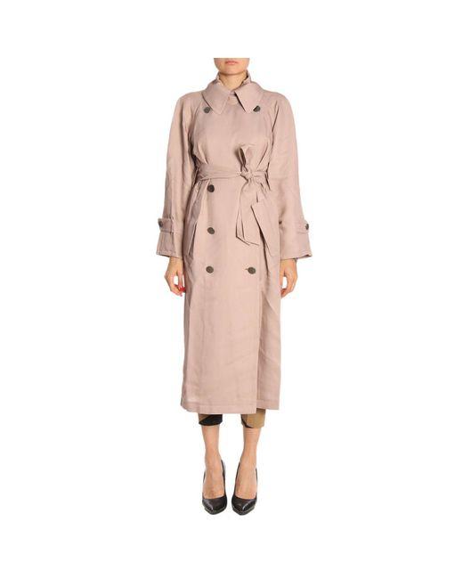 Giorgio Armani - Pink Coat Women - Lyst