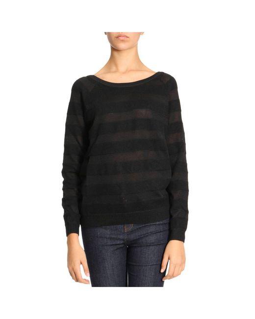 Armani Jeans   Black Sweater Women   Lyst