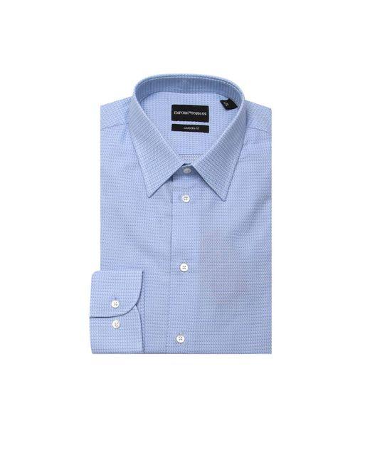 Emporio Armani - Blue Shirt Men for Men - Lyst
