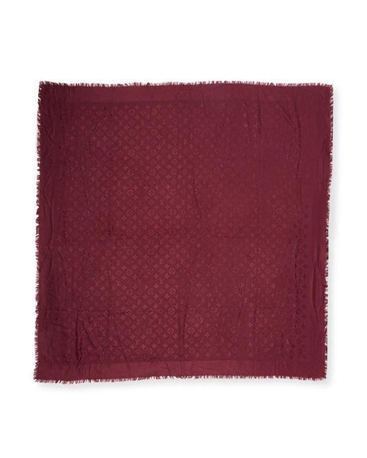 Louis Vuitton - Vintage Purple Monogram Silk Shawl - Lyst
