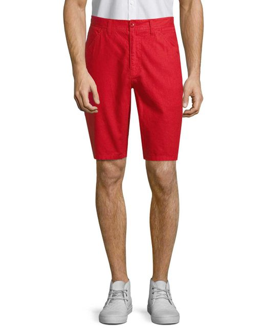 Life After Denim - Red Maldives 4-pocket Shorts for Men - Lyst