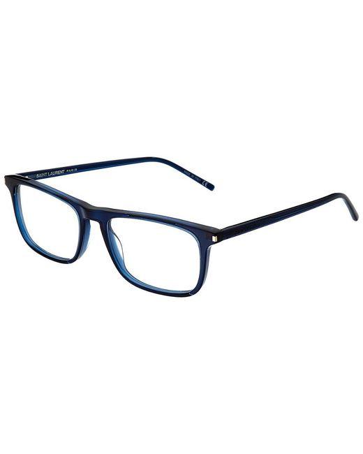 c90f818a2f Saint Laurent - Blue Men s Sl115 52mm Optical Frames - Lyst ...