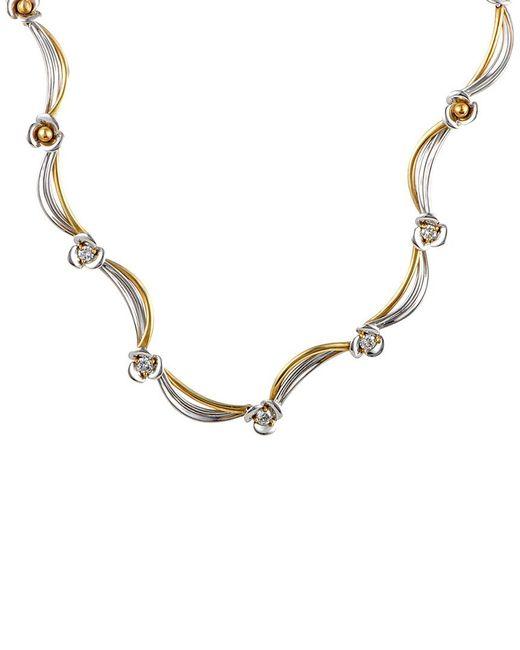 Damiani - Metallic 18k Tri-tone 0.53 Ct. Tw. Diamond Necklace - Lyst