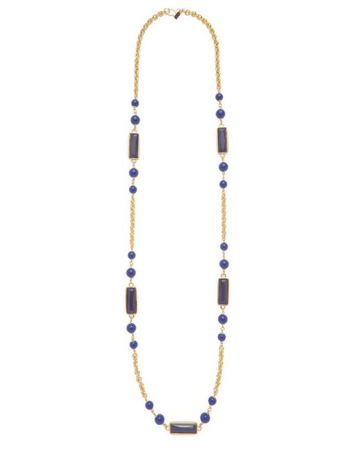 Kenneth Jay Lane - Multicolor Lapis Statement Necklace - Lyst