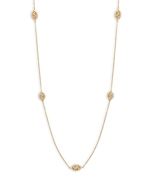 Freida Rothman - Metallic Crystal And Goldplated Cut Out Cage Single Strand Necklace - Lyst