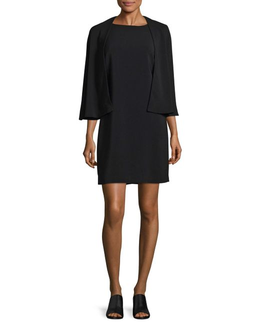 Tracy Reese - Black Caped Shift Dress - Lyst