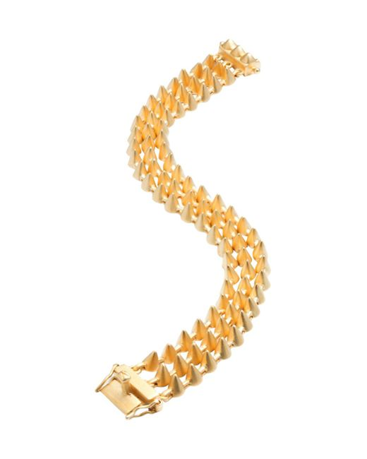 Eddie Borgo - Metallic Mini Cone Triple Strand Station Bracelet - Lyst