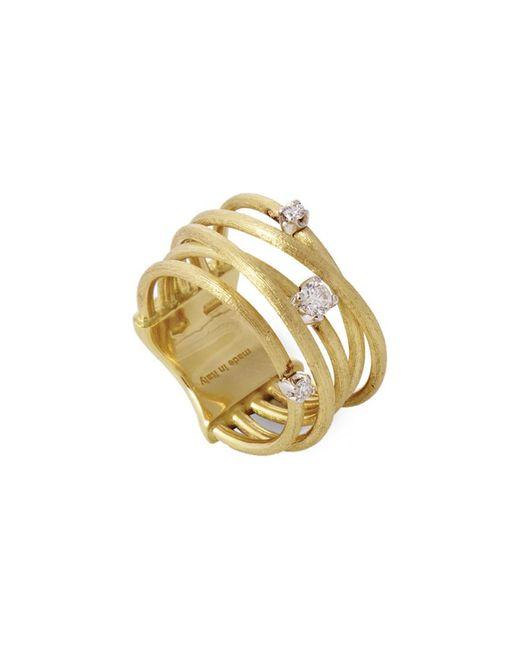 Marco Bicego Metallic Luce 18k Yellow Gold 0.16 Ct. Tw. Diamond Ring