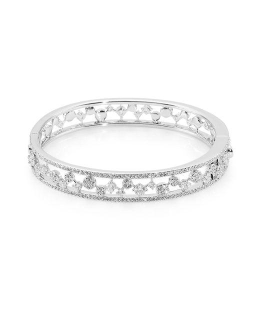Adriana Orsini - Metallic Dazzle Cubic Zirconia Bangle Bracelet - Lyst