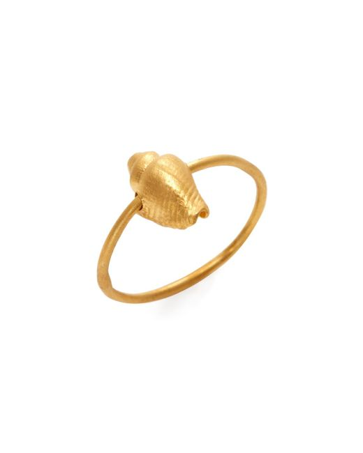 Valentino - Metallic Conch Shell Charm Midi Ring - Lyst