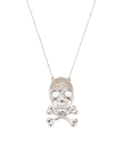 Sydney Evan - Multicolor 14k White Gold Skull Necklace - Lyst