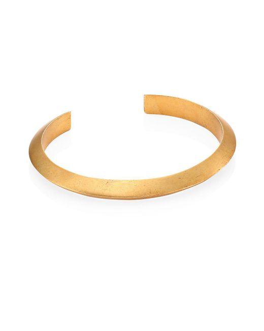 Miansai - Metallic Brushed Bell Cuff Bracelet - Lyst