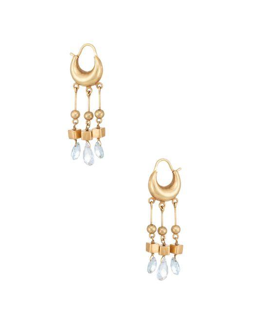Estate Fine Jewelry - Multicolor 21k Yellow Gold Aquamarine Dangle Earrings - Lyst
