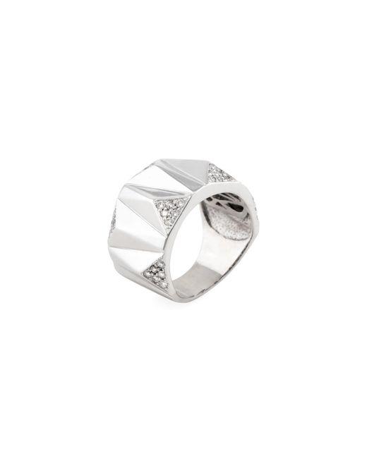 Estate Fine Jewelry | Metallic Estate Geometric 14k White Gold & 0.54 Total Ct. Diamond Ring | Lyst