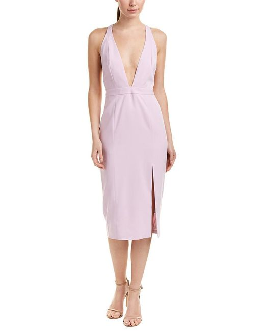 Jay Godfrey - Purple Sheath Dress - Lyst