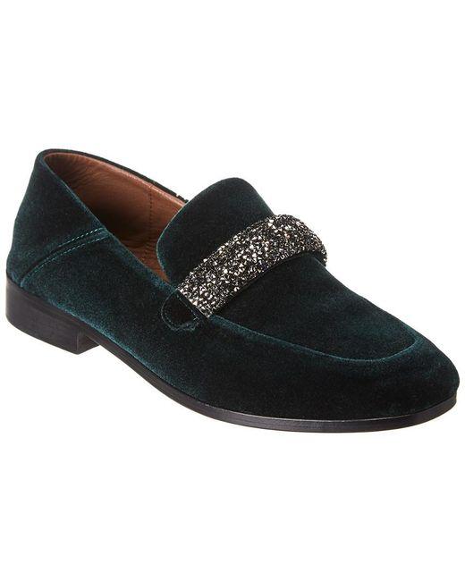 Newbark Green Melanie Velvet Loafer