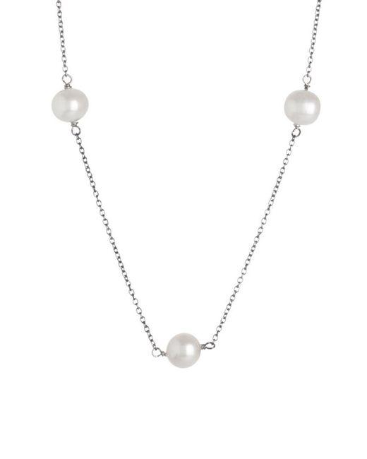 Splendid - Metallic Silver 7-8mm Freshwater Pearl Necklace - Lyst