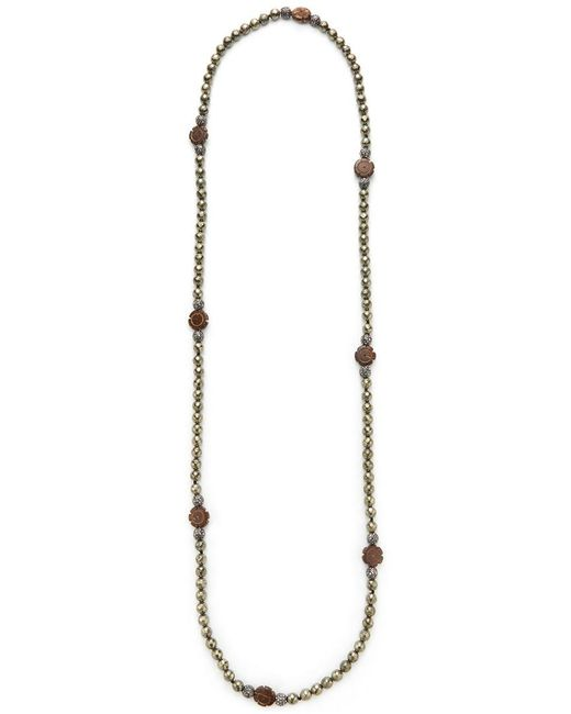 Hipchik Couture - Metallic Flower Station Necklace - Lyst