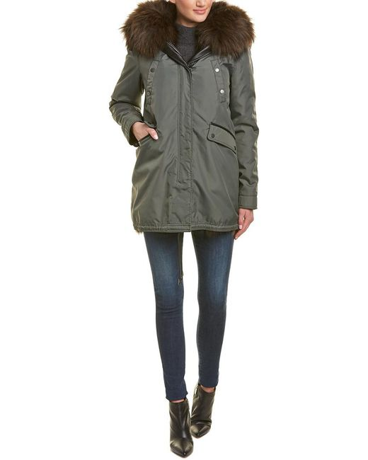 Nicole Benisti - Multicolor Belleville Leather-trim Coat - Lyst