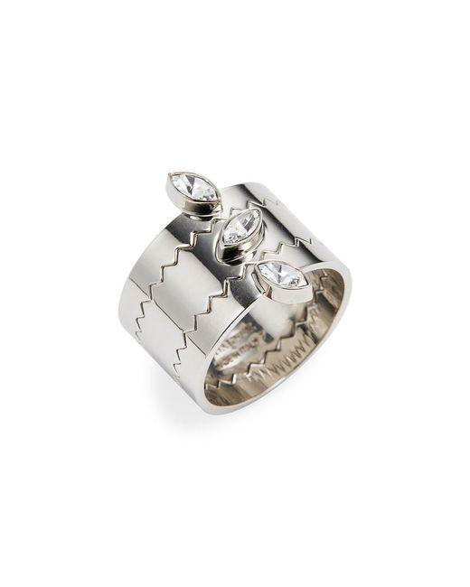 Vita Fede - Metallic Jigsaw Marquise Ring - Lyst