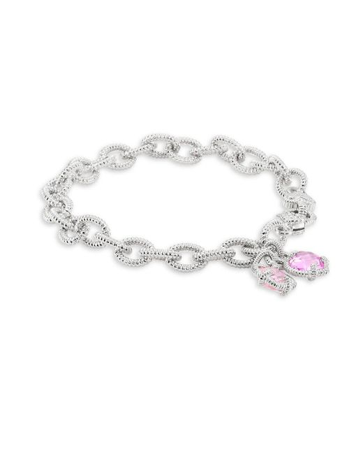 Judith Ripka - Metallic Heart Corundum Charm Bracelet - Lyst