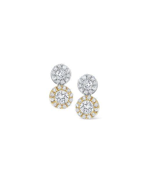 KC Designs - Metallic Two-tone Disc Diamond, 14k White Gold And 14k Yellow Gold Earrings - Lyst