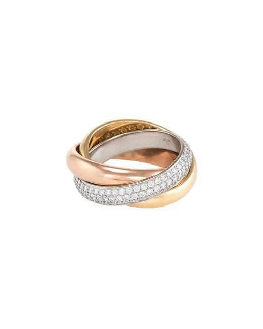 Cartier - Metallic Cartier Trinity 18k Tri-color 0.99 Ct. Tw. Diamond Ring - Lyst