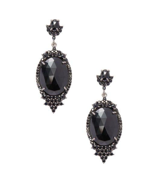 Bavna - Sterling Silver Earrings With Black Spinel - Lyst