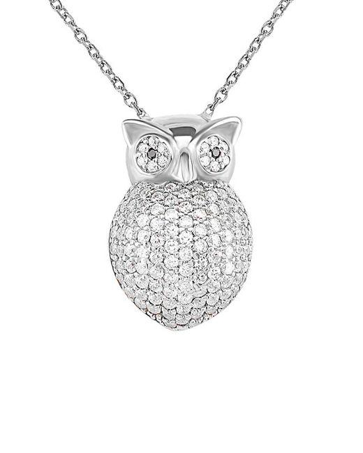 Gabi Rielle - Metallic Silver Cz Owl Pendant Necklace - Lyst