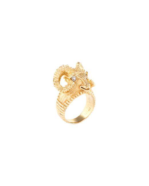 Estate Fine Jewelry - 18k Yellow Gold & Diamond Ram Ring - Lyst