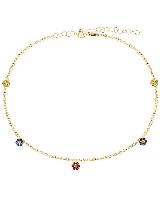 Gabi Rielle Metallic Gold Over Silver Cz Anklet